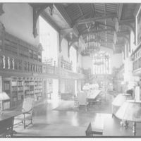 Folger Library interiors. Folger Library from east end I