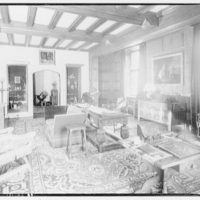 Folger Library interiors. Mrs. Folger's room at library from south to east