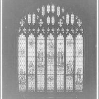 Folger Library interiors. Window of Seven ages of man