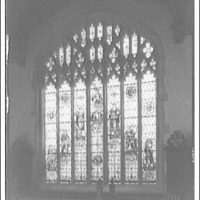 Folger Library interiors. Window of Seven ages of man, Folger Library I