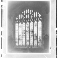 Folger Library interiors. Window of Seven ages of man, Folger Library II