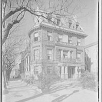 Foraker Mansion. Exterior of Foraker Mansion, later demolished for Foundry Methodist Church Sunday school annex