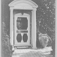 Foxcroft School, Middleburg, Virginia. Detail of doorway at Foxcroft School