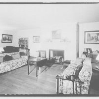 Foxcroft School, Middleburg, Virginia. Interior view to couches at Foxcroft School