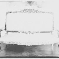 Furniture and other home furnishings. Upholstered couch with gilded frame II