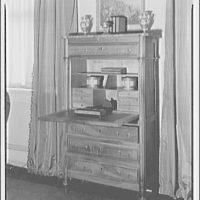 Furniture. Desk cabinet, open