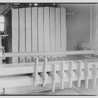 George Washington Stone Corporation Mills. Close-up of stone cutting