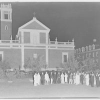 Georgetown Preparatory School. Bishop and members at night