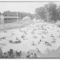 Glen Echo amusement park. Pool and sand lot, whole, Glen Echo