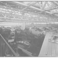 Glenn L. Martin Co. airplane factory. Airplanes in factory I