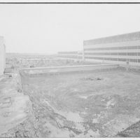 Glenn L. Martin Co. airplane factory. Construction site for addition to factory
