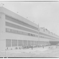 Glenn L. Martin Co. airplane factory. View of airplane factory building I