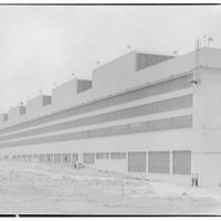 Glenn L. Martin Co. airplane factory. View of airplane factory building II