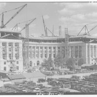 Great Plaza, Federal Triangle. Construction of Great Plaza with Department of the Post Office at 13th and D St.
