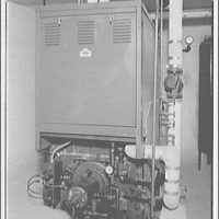 Griffith Consumers Co. Oil burner in one unit of Shirley Duke apartment