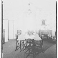 Hamlet house, Chevy Chase Land Co. Dining room table, Hamlet house