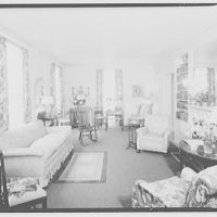 Hamlet house, Chevy Chase Land Co. Living room, Hamlet house