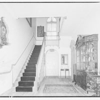 Harriman house. Hallway and staircase in Harriman house