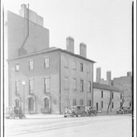 Historical houses. View of building on Jackson Square from across street