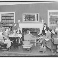 Holton Arms School. Students in lounge at Holton Arms School