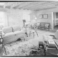 Home of Major Davidson, Mechanicsville, Maryland by Schuyler & Lounsbery. Living room in Major Davidson residence III