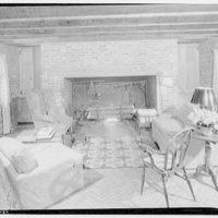 Home of Major Davidson, Mechanicsville, Maryland by Schuyler & Lounsbery. Living room in Major Davidson residence II