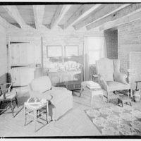 Home of Major Davidson, Mechanicsville, Maryland by Schuyler & Lounsbery. Living room in Major Davidson residence I