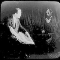 [Houdini and the ghost of Abraham Lincoln]