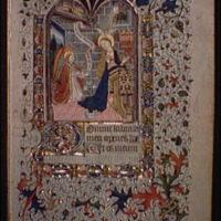 Illuminated manuscript pages. Annunciation illumination I