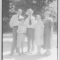 John Smith and family. Portrait of John Smith and family