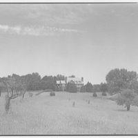 Landon School for Boys. Field with school house I
