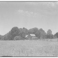 Landon School for Boys. Field with school house II