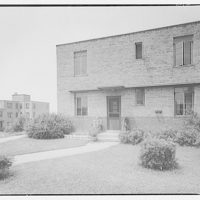 Langston Housing Project. General view of building at Langston Housing Project II