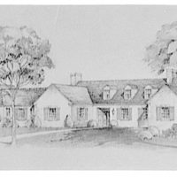 Leon Chatelain Jr., architect. Colonial rambler by Suckett