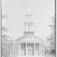 Leon Chatelain Jr., architect. Congregational Church on Massachusettes Ave. in daytime