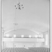 Leon Chatelain Jr., architect. Interior to balcony in Congregational Church on Massachusettes Ave.