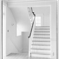 Leon Chatelain Jr., architect. Stairs down and up from ground in Congregational Church on Massachusettes Ave.