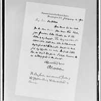 Letter from Chief Justice Holmes to Supreme Court. Page of letter to U.S. Supreme Court