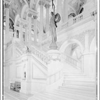 Library of Congress (Jefferson Building). Stairway in Great Hall, Library of Congress