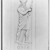 Library of Congress (John Adams Building). Figure of Odin on door, Library of Congress annex