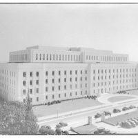 Library of Congress (John Adams Building). Library of Congress annex from roof of main library I