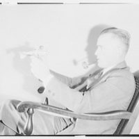 Lt. Williams. Lt. Williams with model airplane I