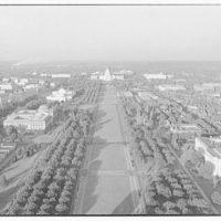 Mall. Aerial view down Mall to U.S. Capitol I