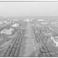 Mall. Aerial view down Mall to U.S. Capitol II