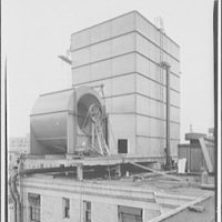 Mayflower Hotel. Construction of air conditioning on roof of Mayflower Hotel