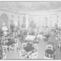 Mayflower Hotel. Lounging room in Mayflower Hotel from front