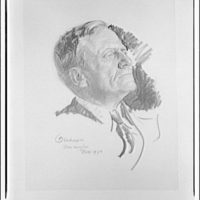 Merle Thorpe. Portrait of Merle Thorpe from sketch I