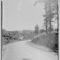 Midland Trail, West Virginia. View down road, Midland Trial