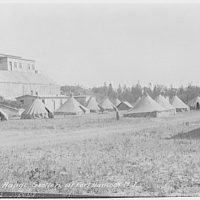 Military subjects. Camp of range section at Fort Hancock, New Jersey