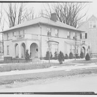 Miscellaneous houses. Two-story stucco house with arcades on sides II